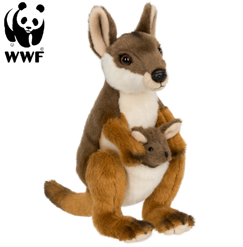 Vallaby med baby - WWF • Pryloteket