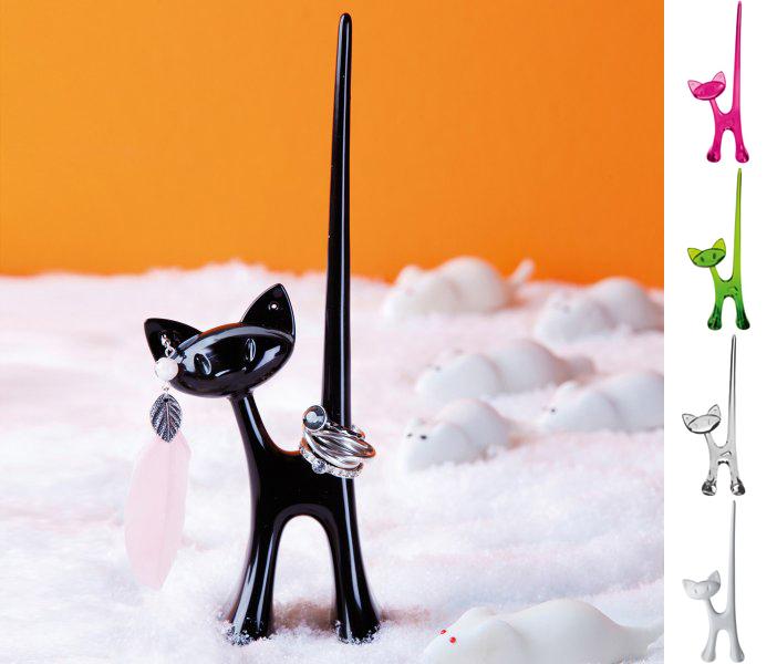 Ringhållare Katten Miaou - Koziol (Transparent)