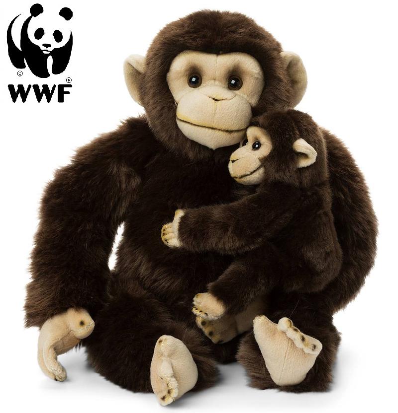 Schimpans med baby - WWF (Världsnaturfonden) • Pryloteket